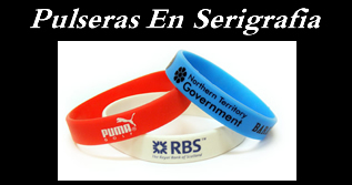 pulseras de goma personalizada serigrafia